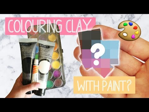 Colouring Polymer Clay With Paint Experiment