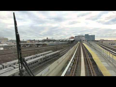 Arriving at Jamaica station, New York