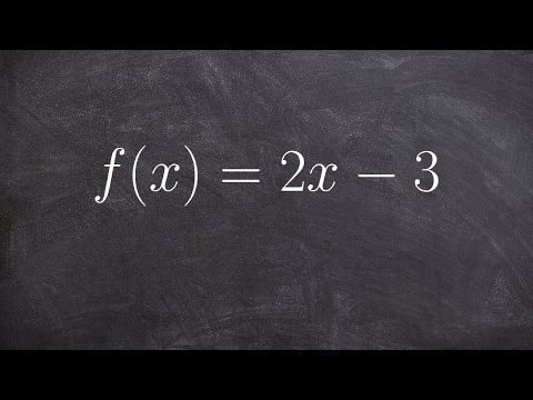 How to determine the domain of a linear function
