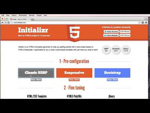 Downloading HTML5 Boilerplate  (The fastest way to start a HTML5 Project)