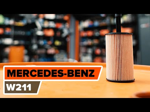 How to replace engine oil and oil filter MERCEDES-BENZ E W211 TUTORIAL  AUTODOC
