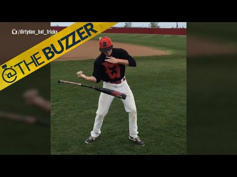 This high school player's baseball bat trick will make you think he's a magician