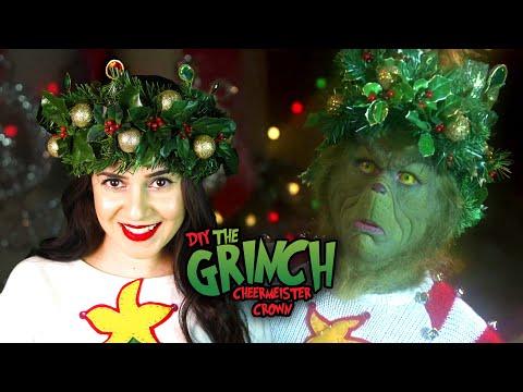 DIY THE GRINCH HOLIDAY CHEERMEISTER CROWN || Lucykiins