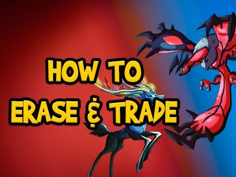 Pokemon X and Y Tutorial - How to Start New Game Erase Delete Save File and Trade Guide