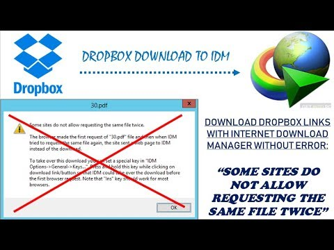 Fix downloading Dropbox files with IDM