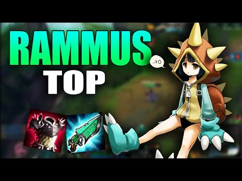 Rammus TOP | This Healing Item Is So Good | Build And Play | League Of Legends