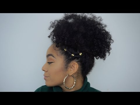 How To Style An Old Wash + Go  |  High Puff with Twists | EASY Hairstyle