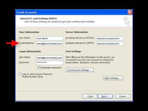 Setting Up Email on Outlook 2003