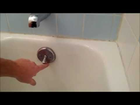 Bath tub trip lever/ bath tub stopper replacement or adjustnment.