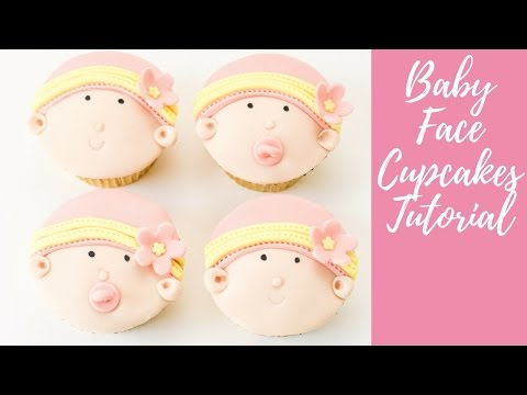 Baby shower cakes: How to make baby face cupcakes by Busi Christian-Iwuagwu