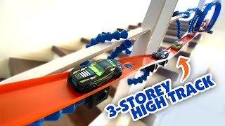 3-Storey High Hot Wheels Track using Trackipede   Keith's Toy Box