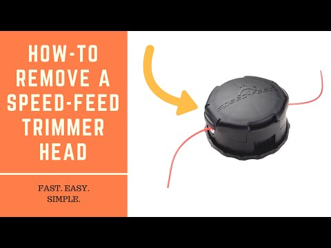 How to remove and replace a Speed Feed trimmer head (ECHO, Bump Head)