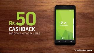 Rs 50 Cashback for Non-Telenor Customers - Easypaisa Mobile Account