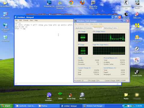 Windows XP with 512 MB ram