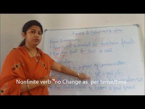 Best explanation on Finite and Non-finite verbs