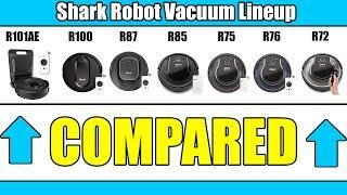 Shark Robot Vacuum 2019 Lineup Compared - R101AE vs R100 vs R87 vs R85 vs R72 vs R76 vs R75
