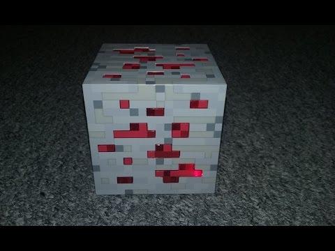 Minecraft Light-Up Redstone Ore Block
