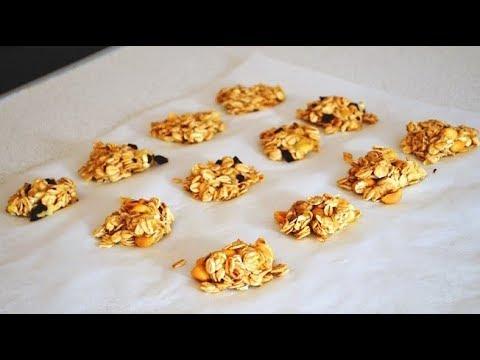 2 Ingredient Granola Bites in under 20 minutes, Sugar Free, Gluten Free