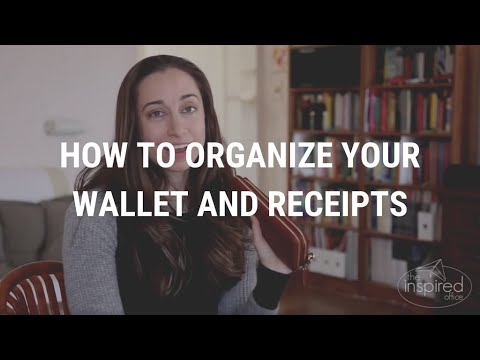 How to Organize Your Wallet & Receipts | Kacy Paide, Office Organizing Expert, DC/MD/VA