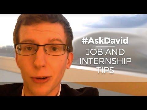 High School Job and Internship Tips #AskDavid