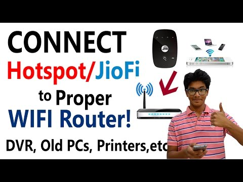 What is WDS Bridging? How to CONNECT Mobile Hotspot/JioFi to Proper WiFi Router? EXPLAINED! [Hindi]