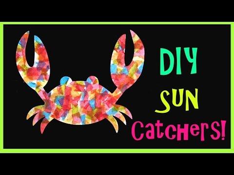 Kid's Craft // Sea Creature Sun Catchers!