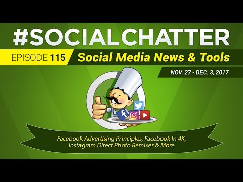 Social Media Marketing Talk Show 115 - Facebook Messenger broadcasts and an Instagram Regram button