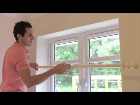HOW TO FIT A  WOODEN CURTAIN POLE