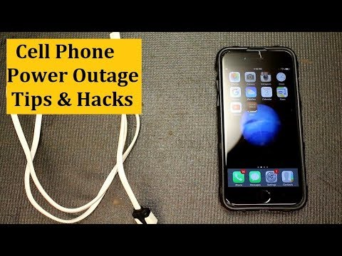 Cell Phone Power Outage Tips & Light Hacks