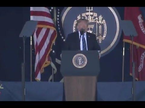 Trump Speaks At US Naval Academy Graduation
