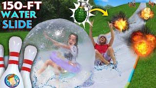 WATER SLIDE OLYMPICS!  FV Familys 150ft Slip & Slide Challenge Games