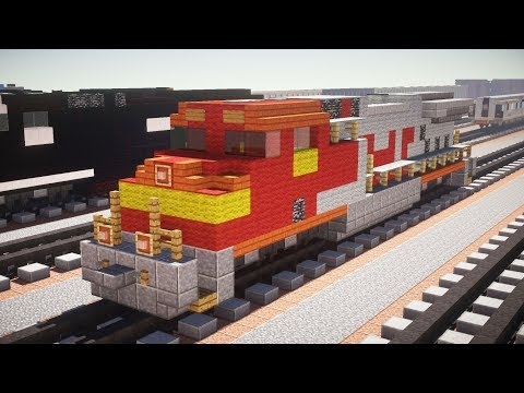 Minecraft Santa Fe GE Evolution Diesel Locomotive Tutorial