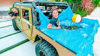 Download I PUT A HOT TUB IN HIS HUMMER!! Video