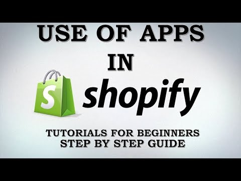 SHOPIFY APPS.  HOW TO ADD APPS IN SHOPIFY