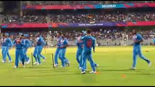 Indian cricket team warm up before match