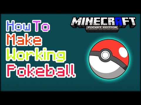 HOW TO MAKE WORKING POKEBALL IN MCPE | Minecraft PE