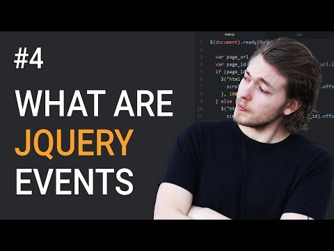 4: How to use events in jQuery - Learn jQuery front-end programming