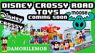 ★ DISNEY CROSSY ROAD TOYS by Moose Toys   Mini Figurines, Mini Plush figurines and Mystery hanger