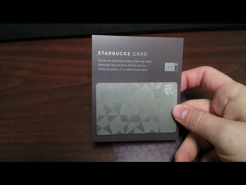 Limited Edition Metal Starbucks Giftcard Unboxing