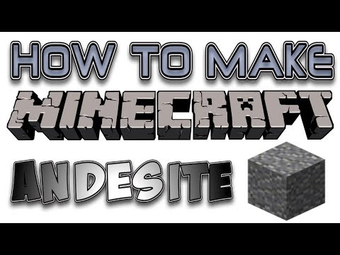 How To Make Minecraft 1.8 Andesite and Polished Andesite Tutorial