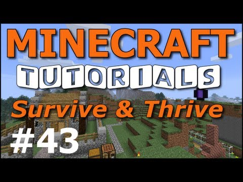 Minecraft Tutorials - E43 Melon and Pumpkin Farm (Survive and Thrive II