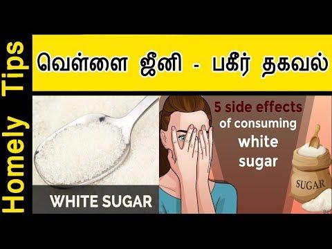 வெள்ளை ஜீனி - பகீர் தகவல் | white sugar side effects in Tamil | Homely Tips