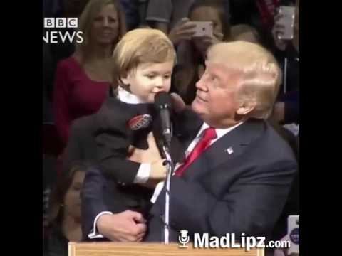 Trump asking the kid if he wants to stay with him