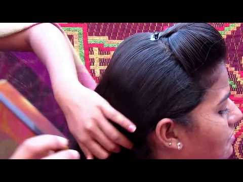 Front Puff with Fishtail Braid hairstyle For Medium Hair