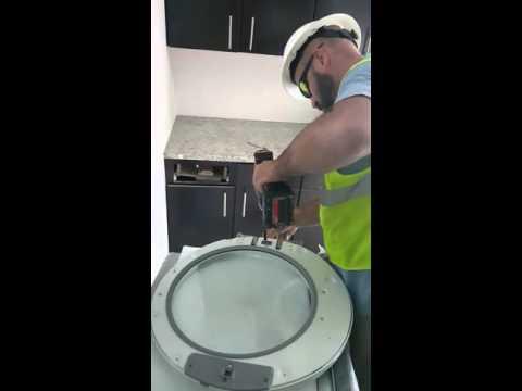 How to change door swing duet stackable washer