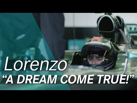 Jorge Lorenzo drives an F1 car!