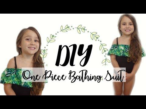 DIY One Piece Ruffled Bathing Suit