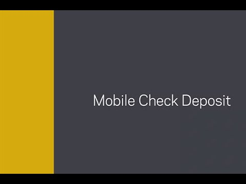 Synchrony Bank   Making mobile check deposits