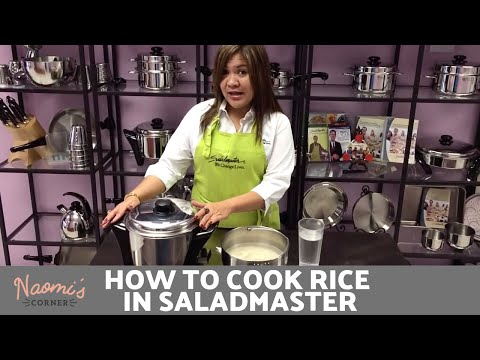 Naomi's Corner - How to Cook Rice in MP5 - Saladmaster