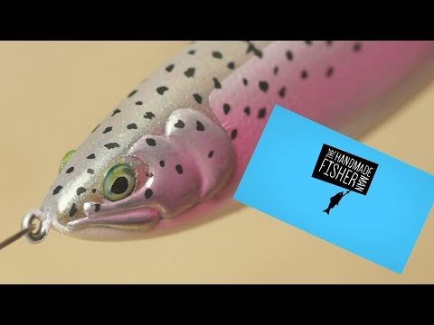Making Wood and 5 minute epoxy Trout Glide Bait  Fishing Lure
